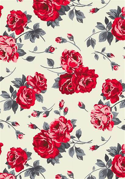Pretty Iphone Floral Rose Backgrounds Pattern Modern
