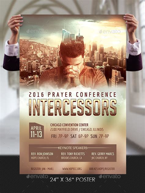 conference poster template  psd ai vector eps