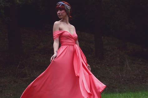 Coral Infinity Maxi Dress For Bridesmaids