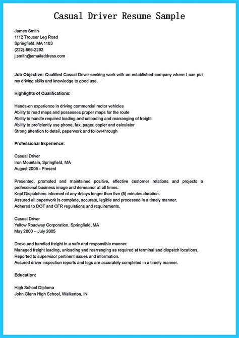 Driver Skills Resume by Stunning Driver Resume To Gain The Serious Driver