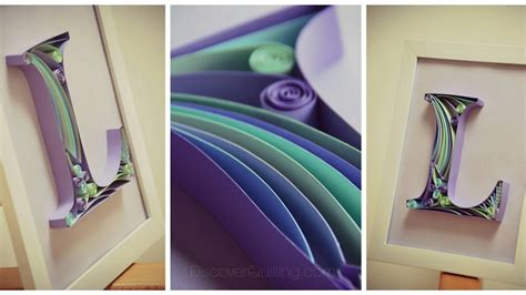 Letter F Home Decor : Paper Quilling Art For Bedroom