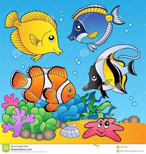 clipart animali animali e pesci subacquei 2 illustrazione vettoriale