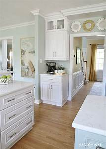 coastal kitchen makeover the reveal sherwin williams With kitchen colors with white cabinets with how do rfid stickers work