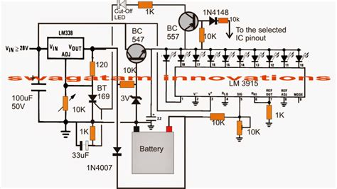 Battery Charger Circuit With Indicator