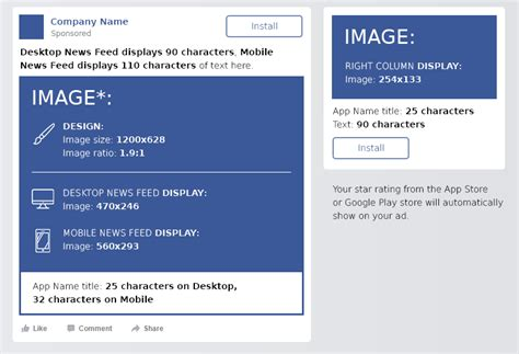 facebook cheat sheet all sizes and dimensions dreamgrow