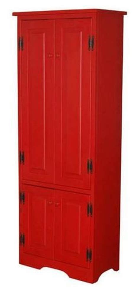 Tall Red Kitchen Cabinet Pantry Storage New! Free Shipping