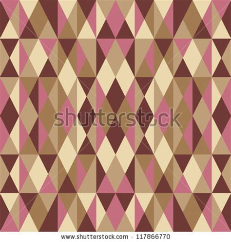 Abstract Pattern Background Pink Colors Vector Stock Geometric Abstract Vector Background Seamless Pattern In