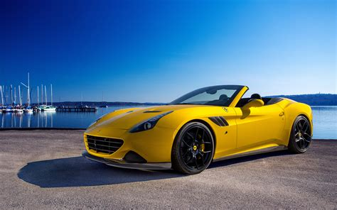 Yellow Ferrari California T Full Hd Wallpaper And