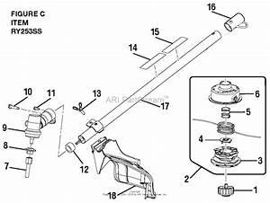 Homelite Ry253ss 25cc String Trimmer Parts Diagram For