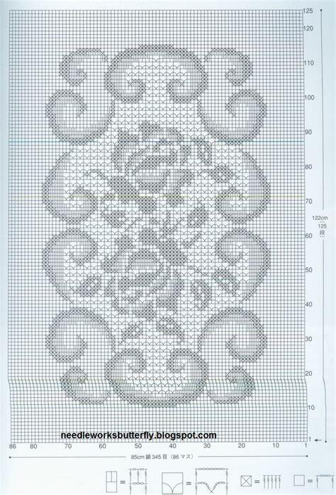 needle works butterfly filet crochet doilies  patterns
