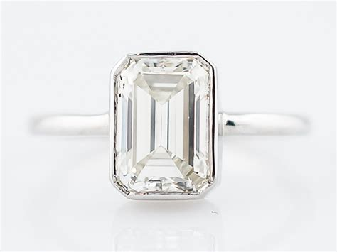 engagement ring modern 2 05 emerald cut in 18k