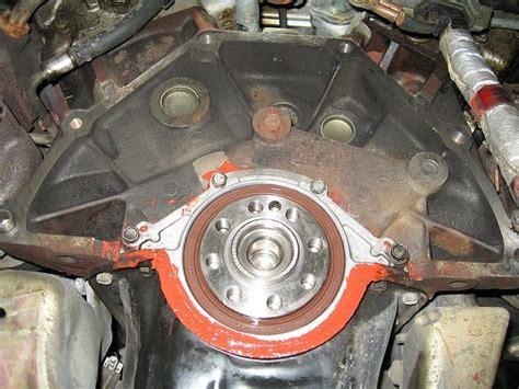 nissan xterra rear main seal leak