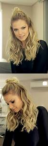 Latest Trend Half Bun Hairstyles You Want To Try Long