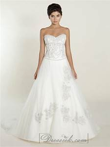 a line sweetheart wedding dresses with beaded bodice With beaded bodice wedding dress