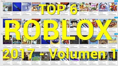 Los encontrarás de todo tipo: ROBLOX: TOP 6 Mejores juegos - Enero 2017 - YouTube