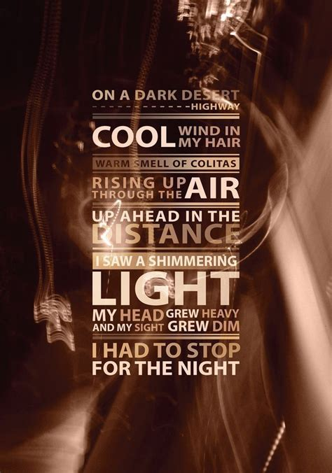 Hotel California  Eagles  ♬ Music Quotes & Music Lyrics ♬  Pinterest  Hotel California