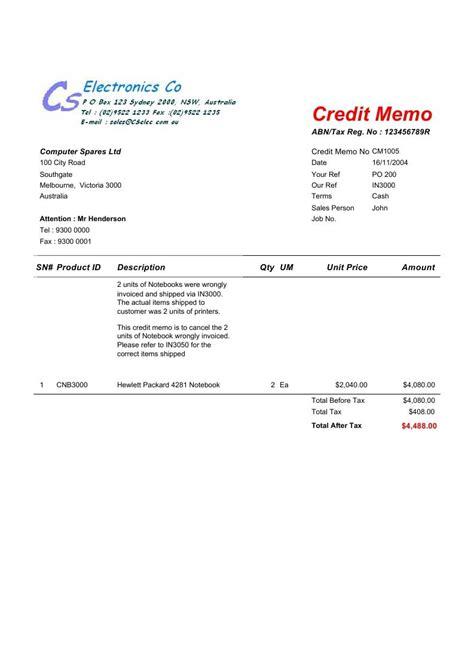 credit memo template credit memo template free create edit fill and print