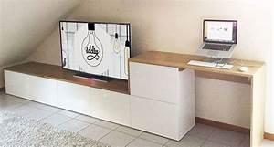 Meubles Besta Ikea : un meuble tv multi fonctions iddiy meuble besta ikea multi fonctions sous pente claudia ~ Nature-et-papiers.com Idées de Décoration