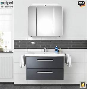 Waschtisch Mit Unterschrank Und Spiegelschrank : pelipal solitaire 9005 badm bel set 80 cm mit ~ Whattoseeinmadrid.com Haus und Dekorationen