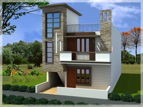 Small Duplex House Elevation Design