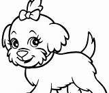 Poodle Coloring Pages Dog Printable Bulldog Husky English Drawings Puppy Drawing Line Boxer Cowardly Cartoon Dogs Realistic Clipart Sheet Clipartmag sketch template