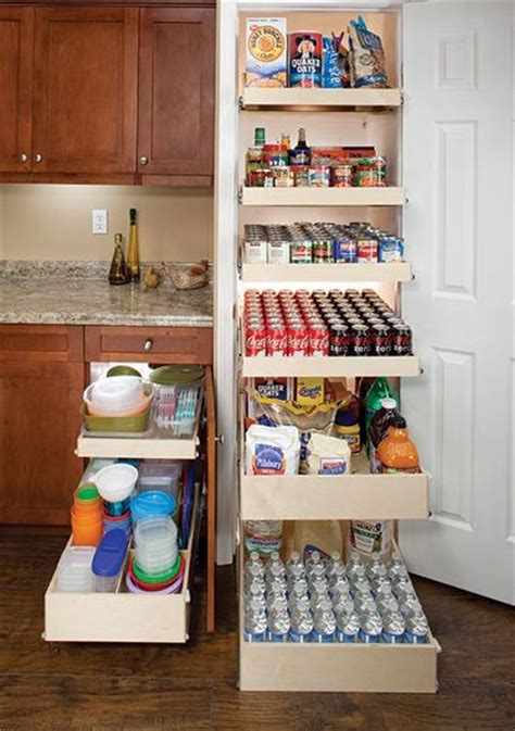 Pantry Shelving Solutions by Each Sliding Shelf Holds Up To 100 Lbs Heavy Items No