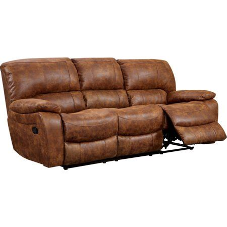 Faux Leather Recliner Sofa by Furniture Of America Renna Faux Leather Reclining Sofa