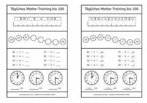 Kindergartenbeitrag Berechnen Nrw : t gliches mathe training bis 100 ~ Themetempest.com Abrechnung