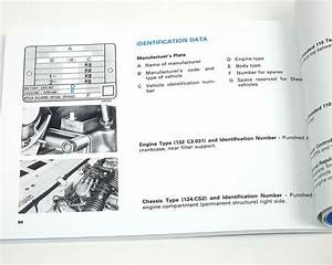 Fiat 124 Spider 1982 Owners Manual