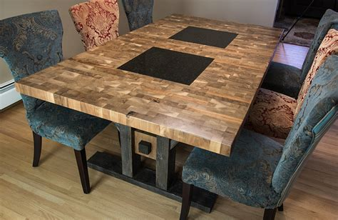 chopping block kitchen island custom furniture butcher block style dining table
