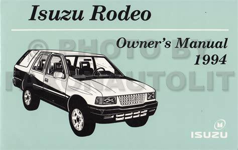 electric and cars manual 1994 isuzu amigo electronic valve timing 1994 1995 isuzu rodeo honda passport repair shop manual original