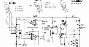 Temperature Controlled Relay Circuit Diagram