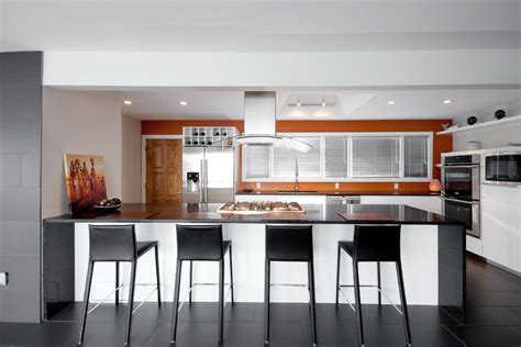 Modern Range Hoods Kitchen Modern With Accent Tile Floor O