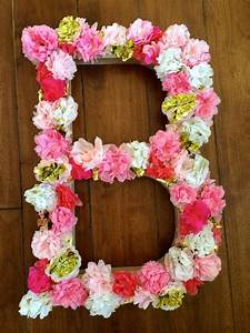 monogram paper mache monogram letter sign with handmade With giant flower letters