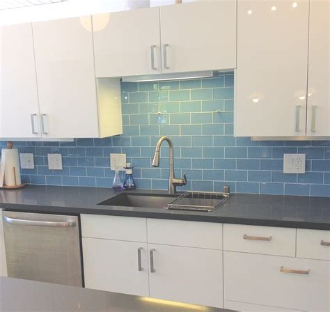 glass backsplash tile for kitchen sky blue glass subway tile subway tile outlet