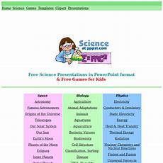 Science  Free Presentations In Powerpoint Format, Free Interactives & Games For Kids Pearltrees