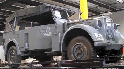 World War 2 German 1942 Horch Type 40 Being Delivered To