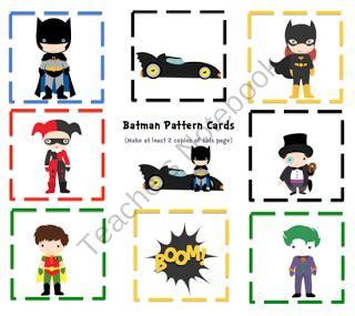 batman pattern cards preschool printables by gwyn 450 | ed2dba23d4e57900f6567ad2dad02eee
