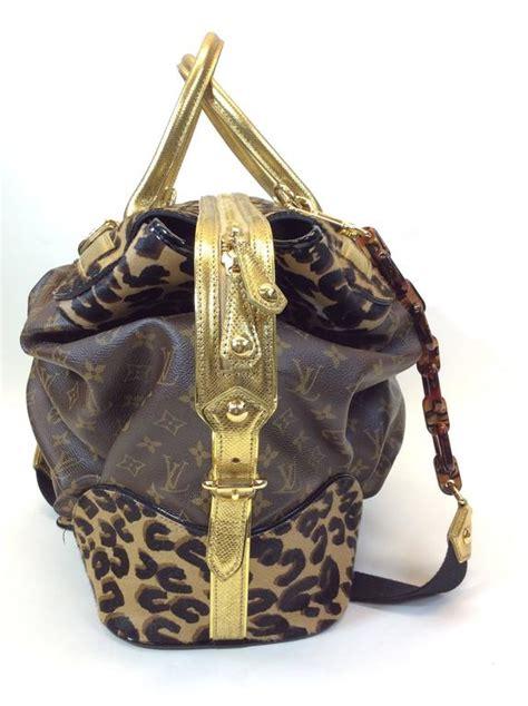 louis vuitton exclusive monogrammed leopard steamer bag  stdibs