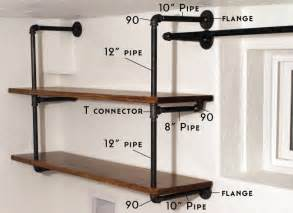 1/2'' Black iron pipe flanges DIY INDUSTRIAL PIPE SHELVING
