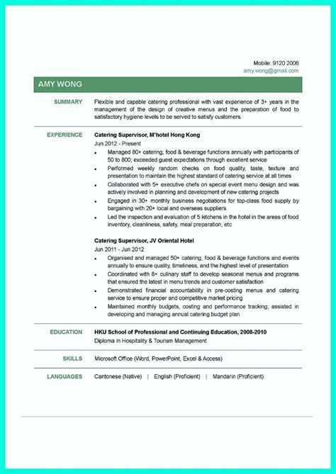 Resume Tips And Tricks by Attractive But Simple Catering Manager Resume Tricks
