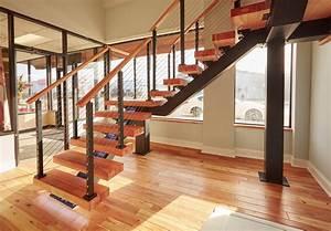 Floating, Stairs, Design, Straight, 90, U00b0, Turn, Switchback, Custom