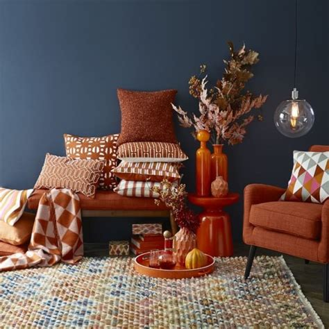 navy and rust decor from cb2 decoist
