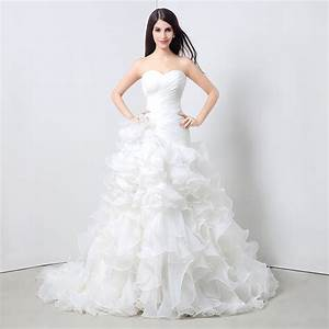 simple lovely mermaid strapless organza ruffle wedding With organza ruffle wedding dress