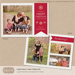 Digital photoshop christmas card template for photographers psd flat for Digital christmas card templates