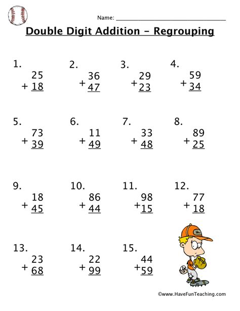 Double Digit Addition With Regrouping Popflyboys