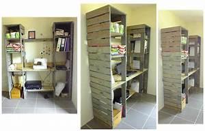 Palette De Bois : meuble de travail en bois de palette pallet desk ~ Premium-room.com Idées de Décoration