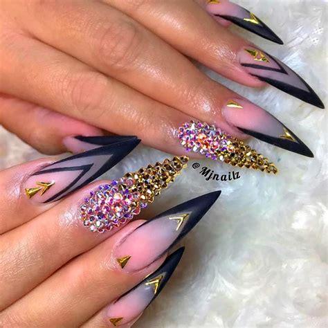 fantastic ideas   pointy nails naildesignsjournal