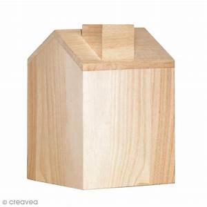 Boite A Mouchoir En Bois : bo te mouchoir maison en bois 12 5 x 13 x 18 cm boite mouchoir creavea ~ Teatrodelosmanantiales.com Idées de Décoration
