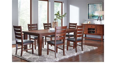 Lake Tahoe Brown 7 Pc Rectangle Dining Room Traditional